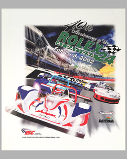 2002 Rolex 24 at Daytona official poster