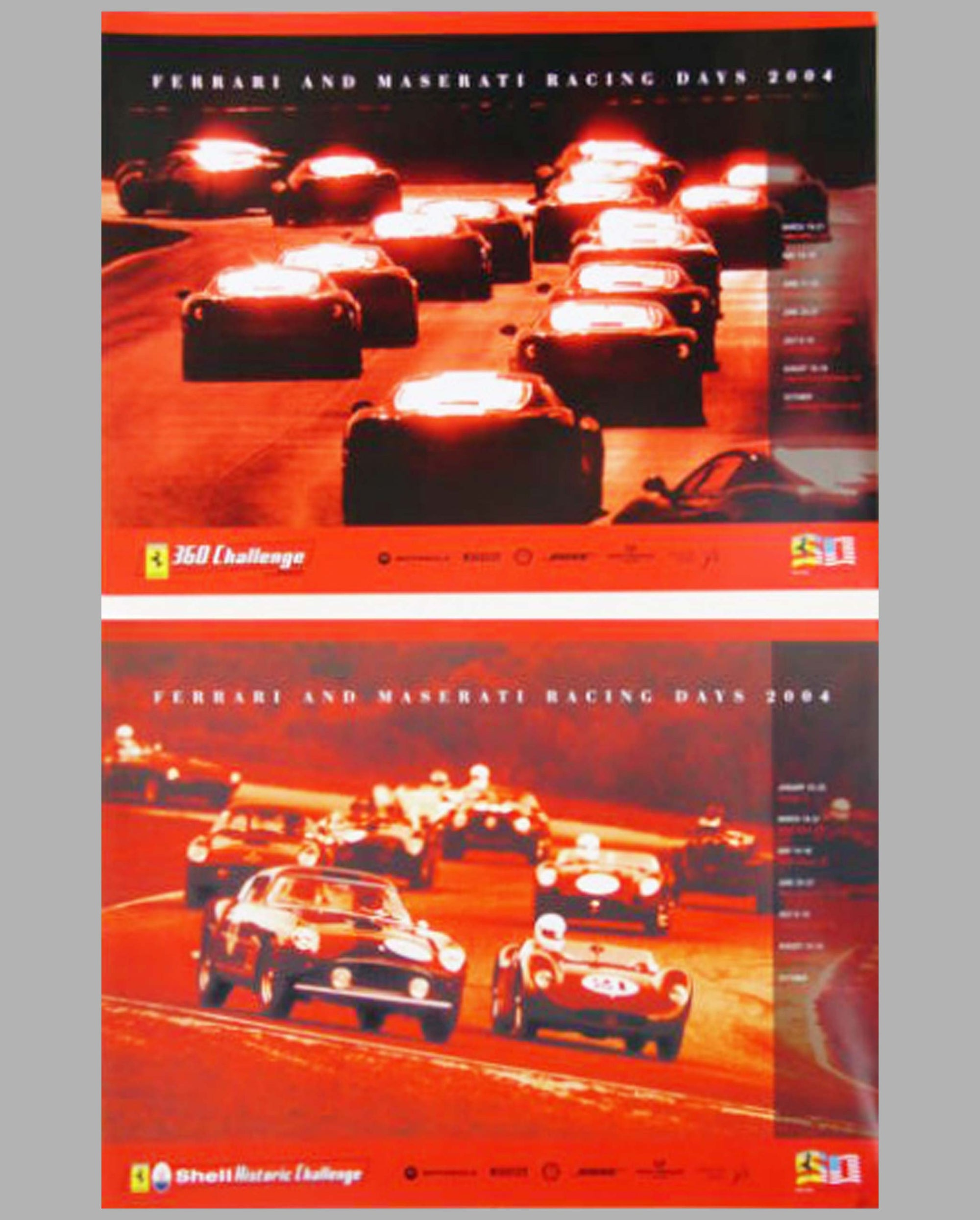 Two Ferrari & Maserati Racing Days 2004 official event posters
