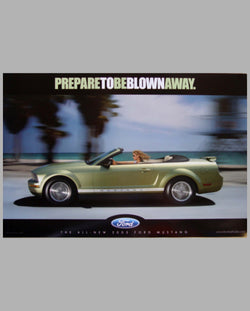 2005 Ford Mustang two-sided factory advertising poster front