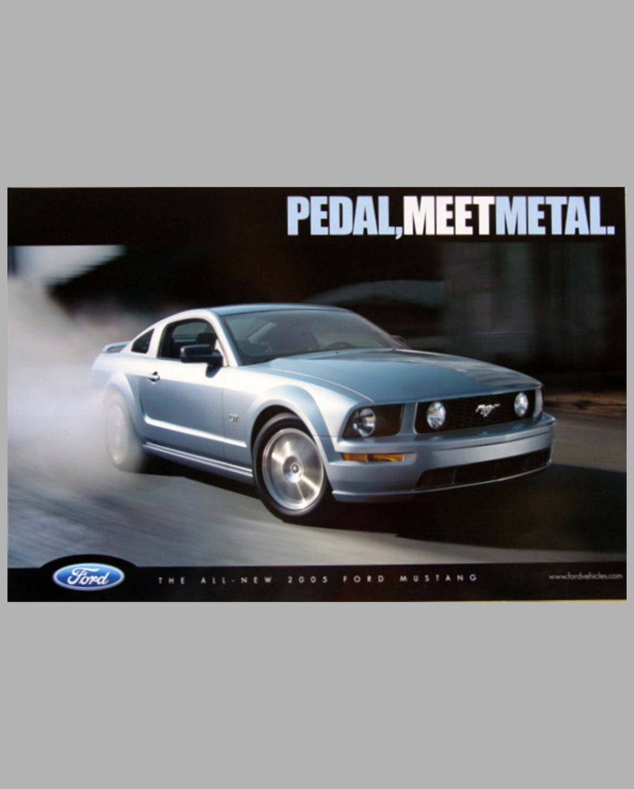2005 Ford Mustang two-sided factory advertising poster back