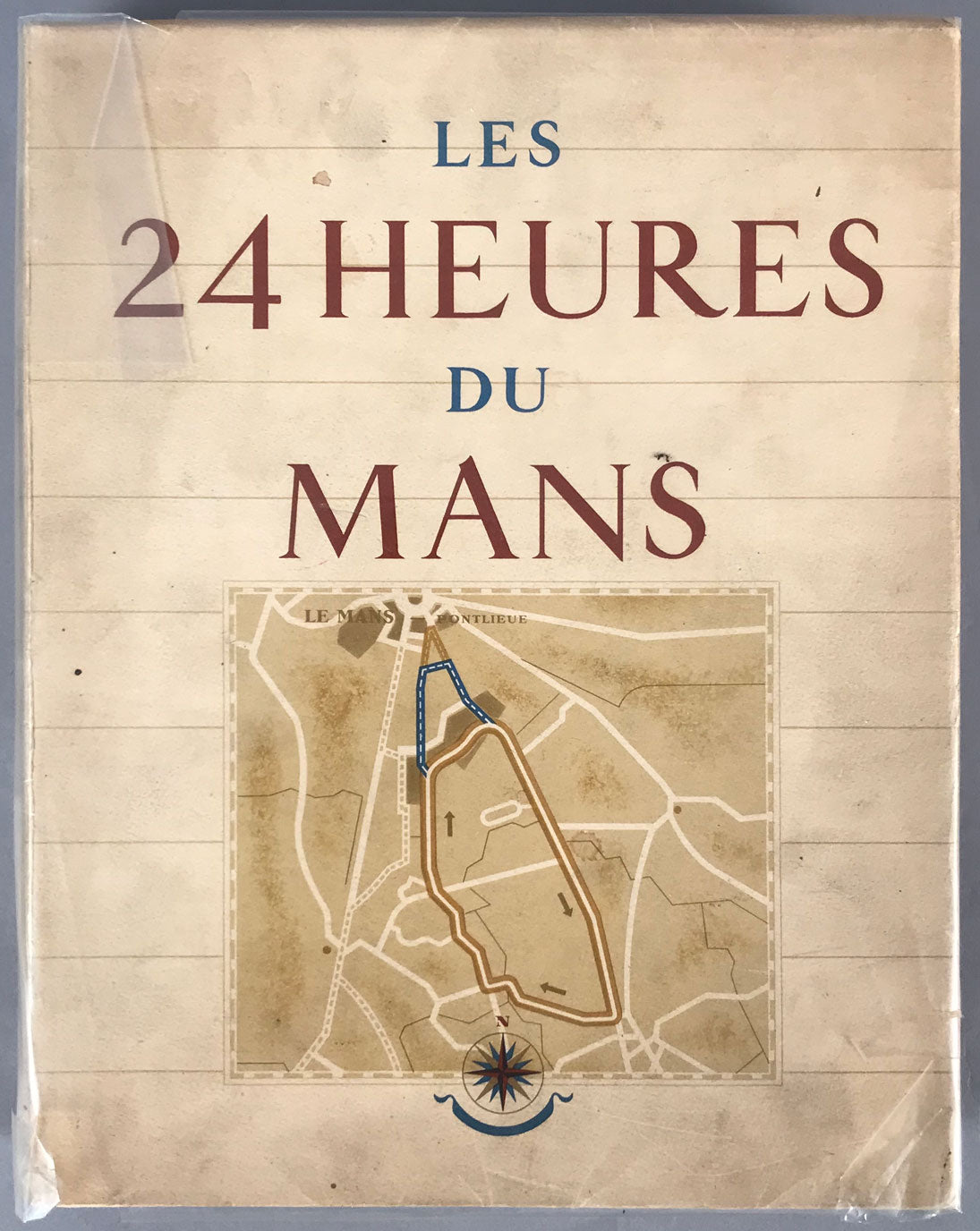 Les 24 Heures du Mans book by Roger Labric, 1949, illustrated by Geo Ham - $575.00