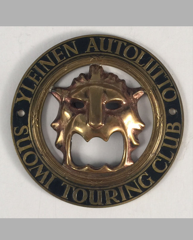 Yleinen Autoliitto Suomi Touring Club car grill badge (Finland)