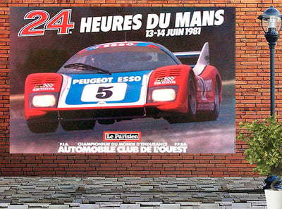 1981 - 24 Hours of Le Mans Original 10' Billboard Poster