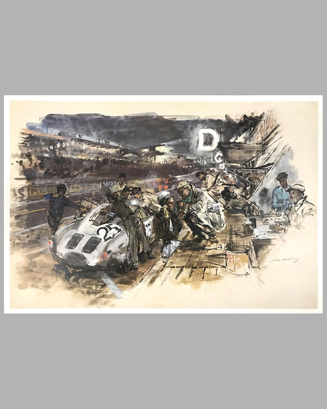 24 Hours of Le Mans print by Walter Gotschke, early 1980's