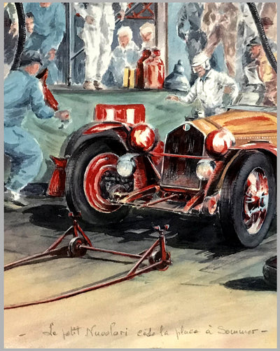 1933 24 Heures du Mans print by Rob Roy 2