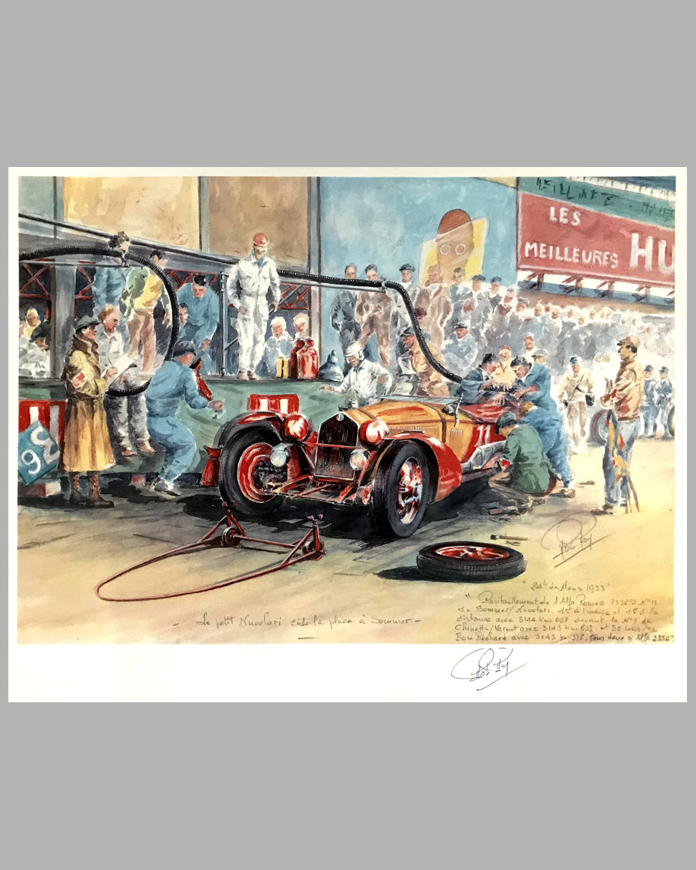 1933 - 24 Heures du Mans print by Rob Roy