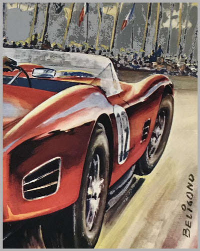 1961 - 24 hours of Le Mans original poster by Beligond