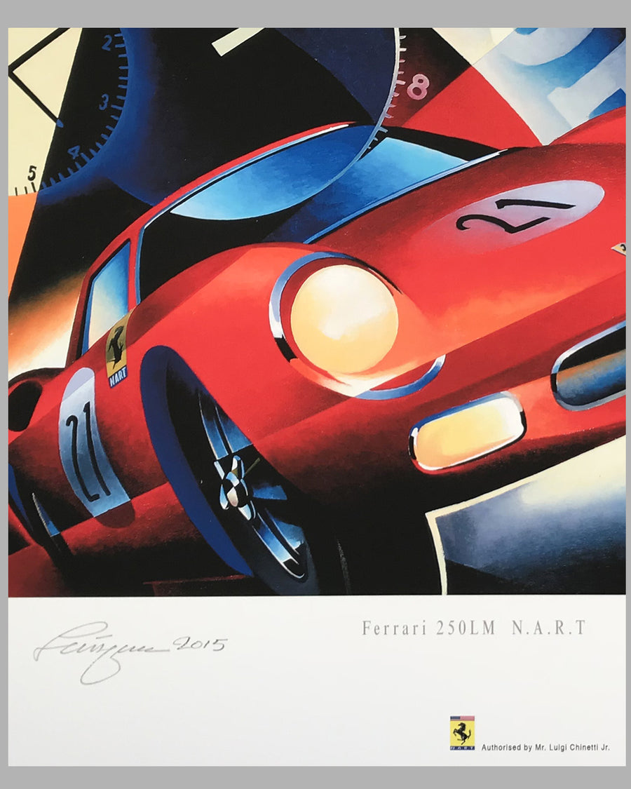 Ferrari 250 LM NART giclée on paper by Alain Lévesque