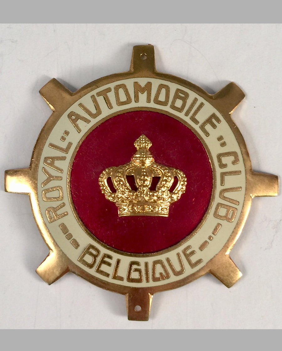 Royal Automobile Club Belgique car grill badge