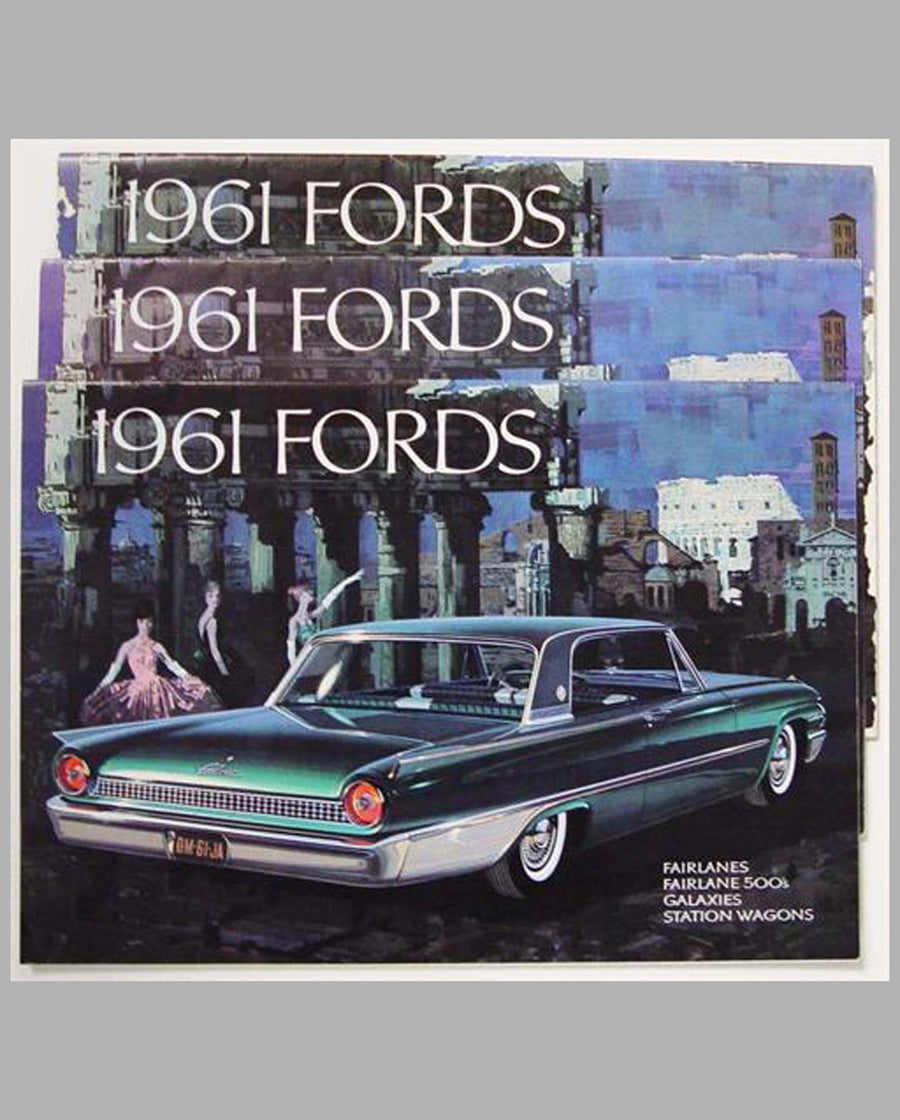 Three 1961 Ford prestige catalogs