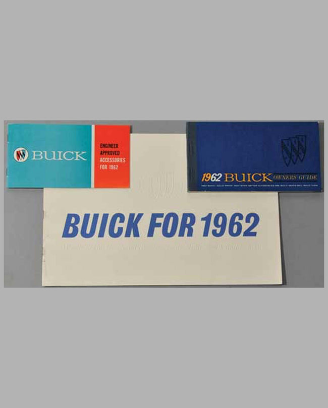 Three 1962 Buick factory publications