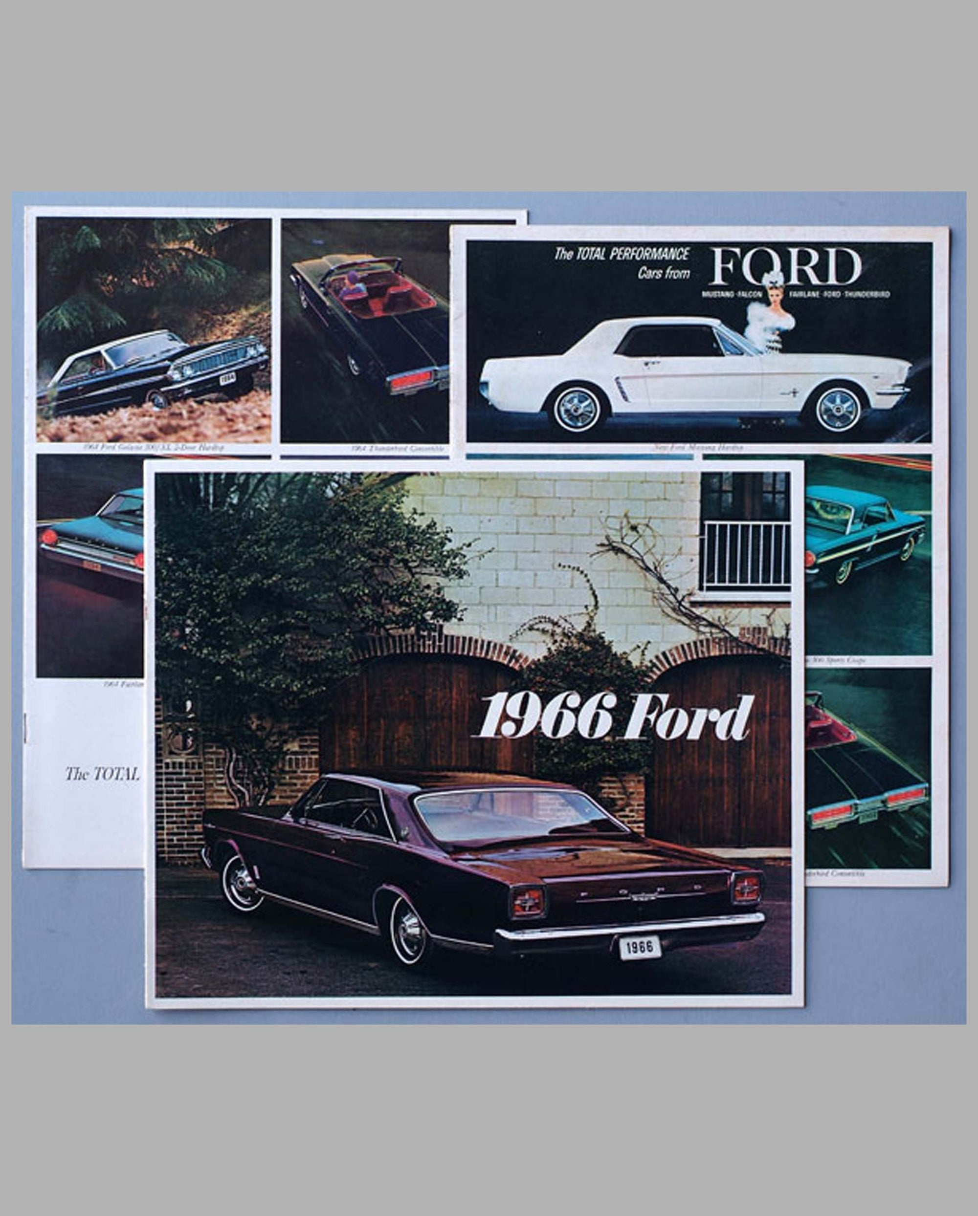 Three 1964-1966 Ford sales brochures