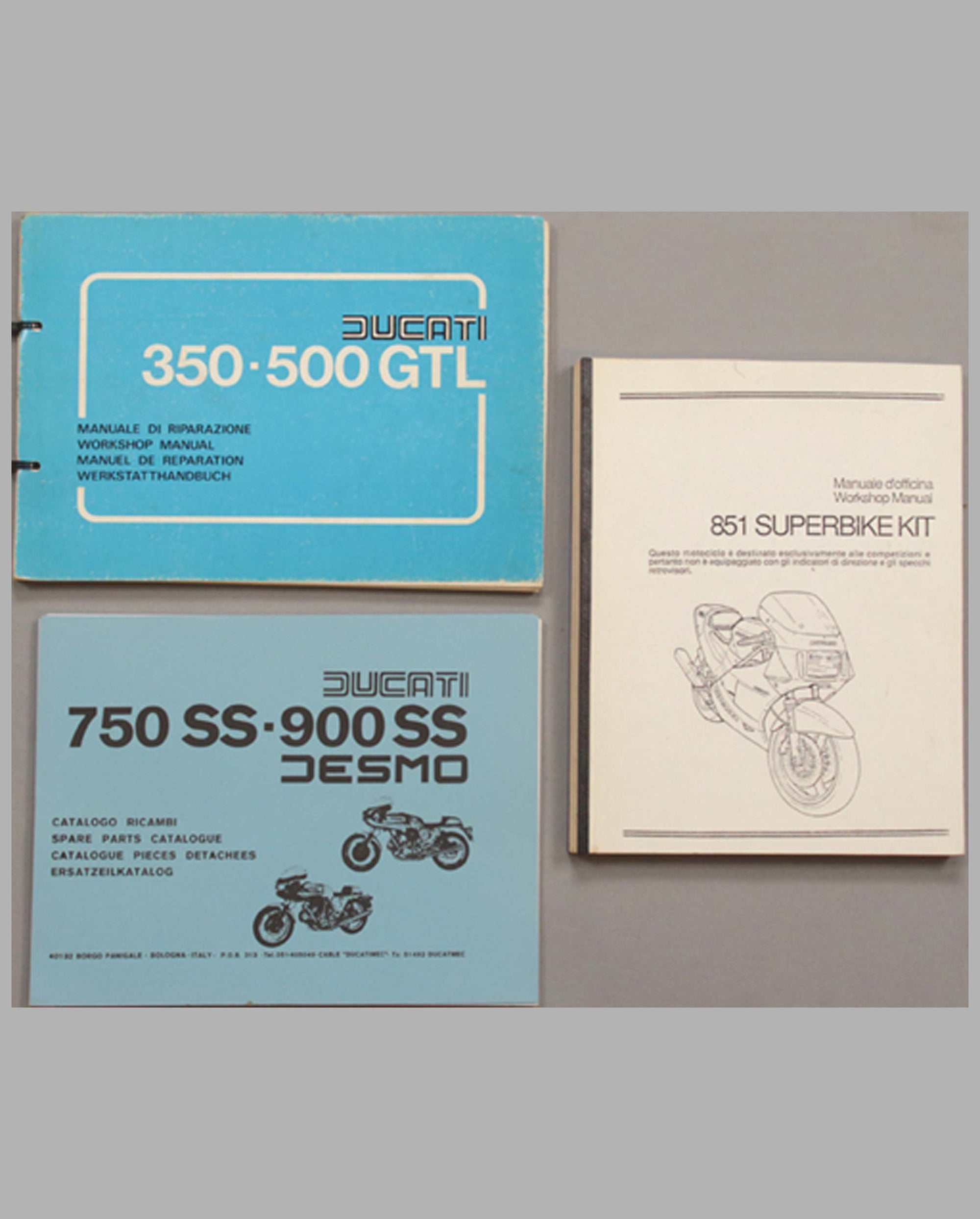 Three Ducati workshop manuals