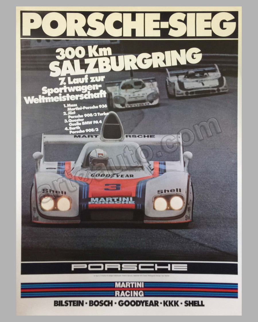 300 km of Salzburg 1976 victory poster