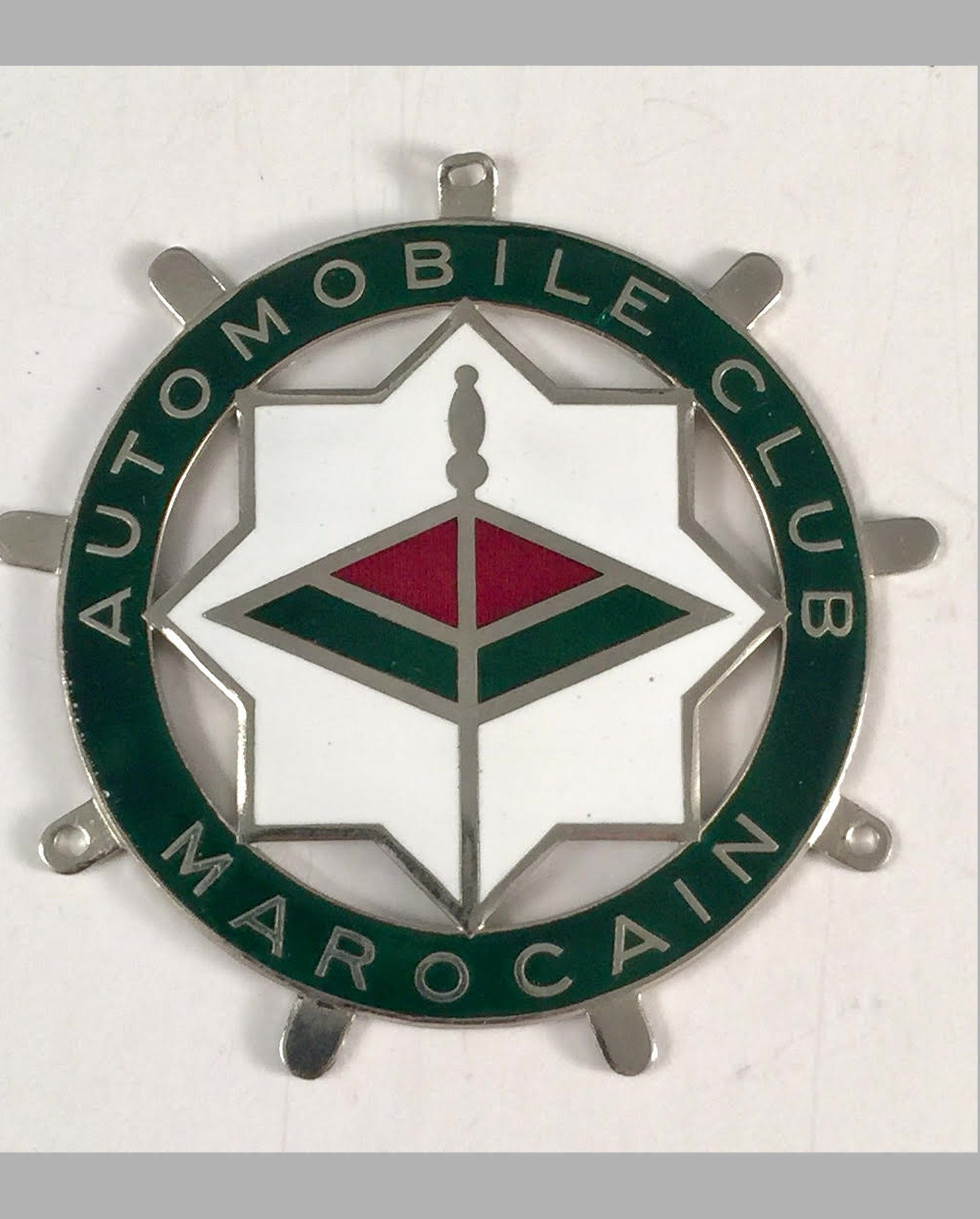 Automobile Club Marocain car grill badge