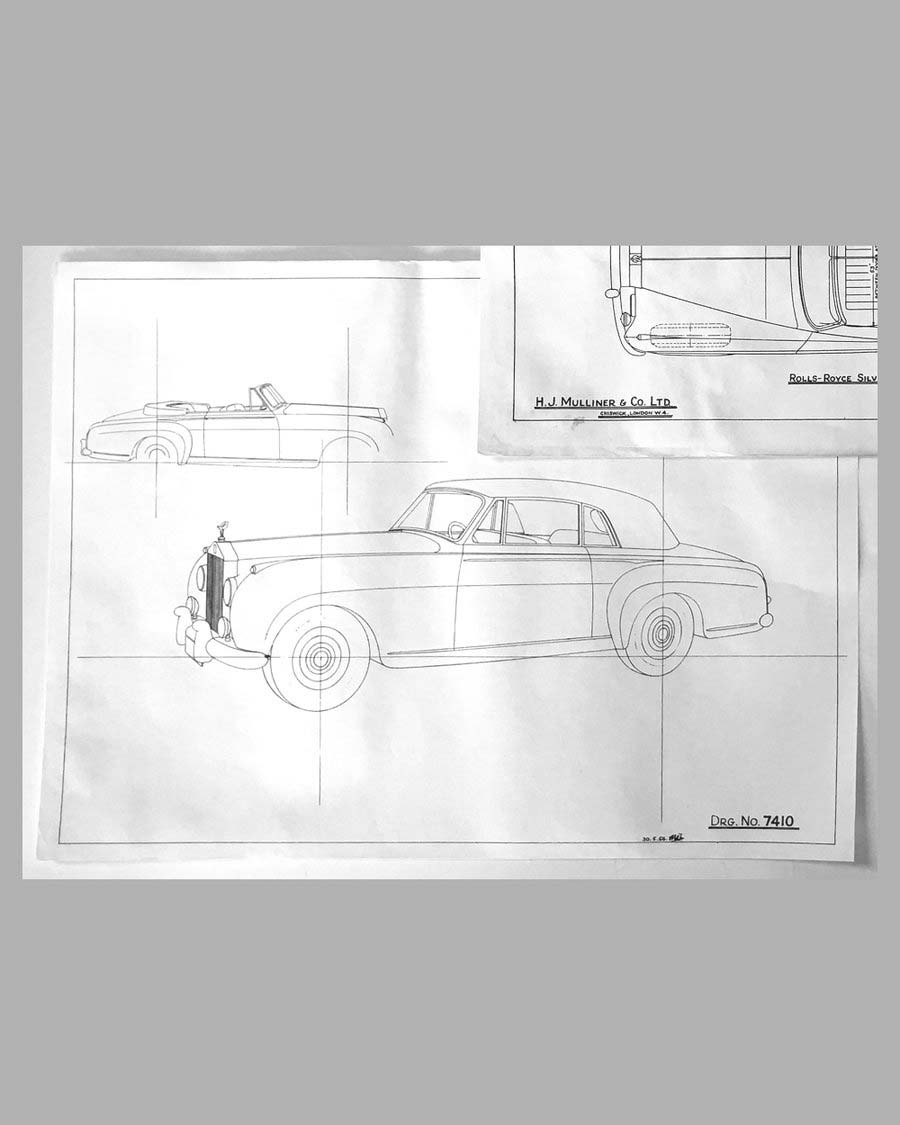 Three Rolls Royce Silver Cloud Drop-head Coupe factory blueprints 2