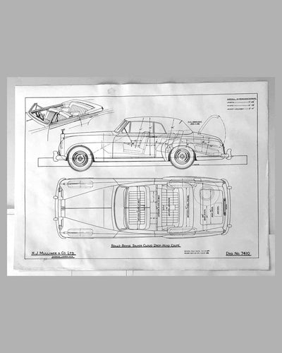Three Rolls Royce Silver Cloud Drop-head Coupe factory blueprints 3