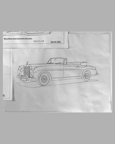 Three Rolls Royce Silver Cloud Drop-head Coupe factory blueprints 4