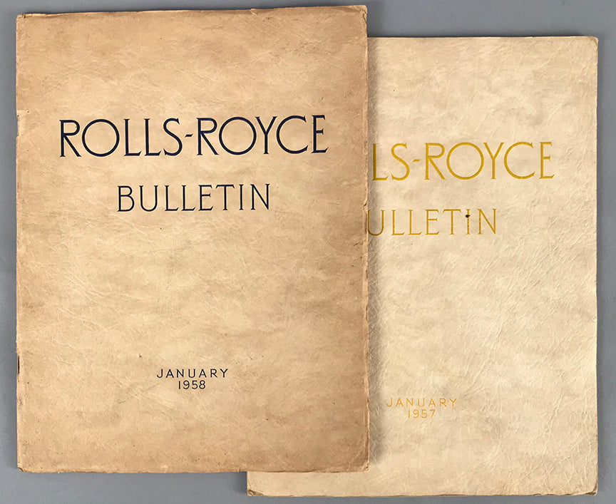 Rolls-Royce Bulletin January 1957 & January 1958