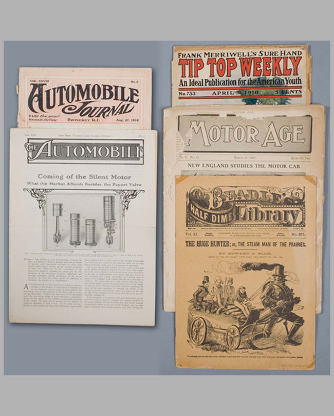 Five car-related magazines from 1882-1911