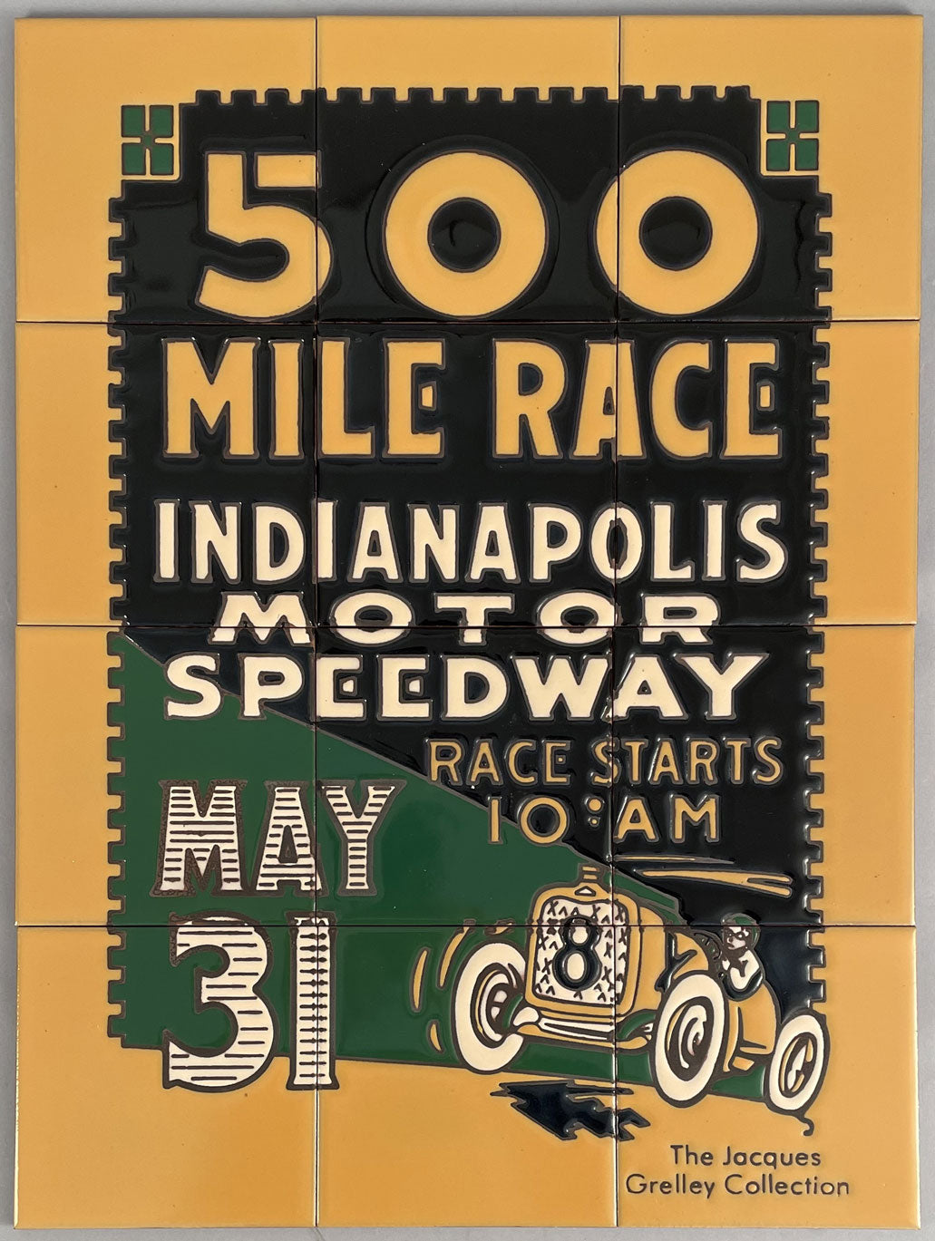 500 Mile Race Indianapolis Motor Speedway limited edition tiles