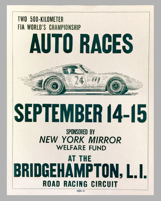 500 Kilometer World Sports Car Championship Auto Races Poster