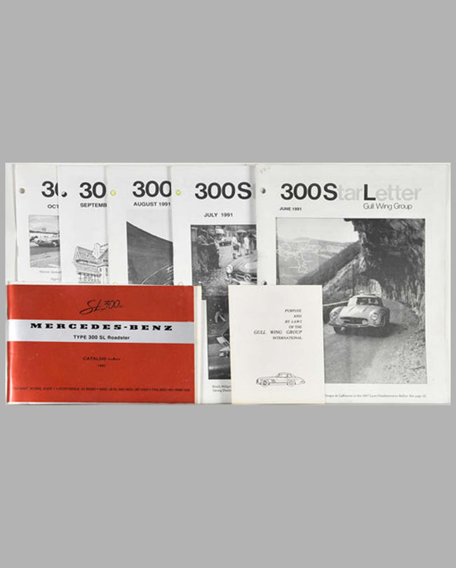 Six Mercedes-Benz 300 SL Club publications