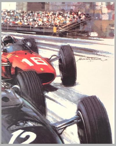 1967 Monaco Grand Prix original poster by Michael Turner 2