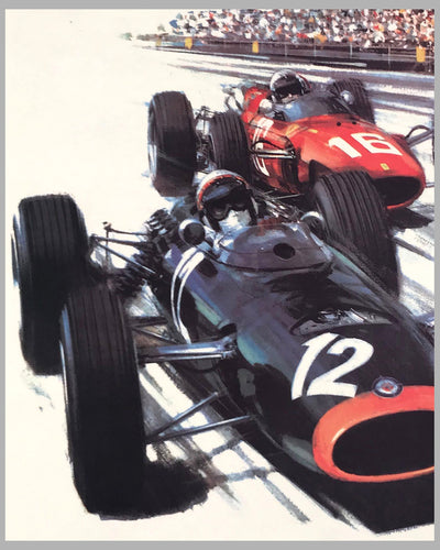 1967 Monaco Grand Prix original poster by Michael Turner 3