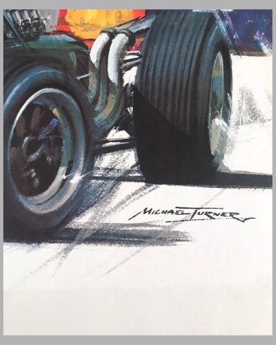 Monaco Grand Prix 1968 original poster by Michael Turner 2