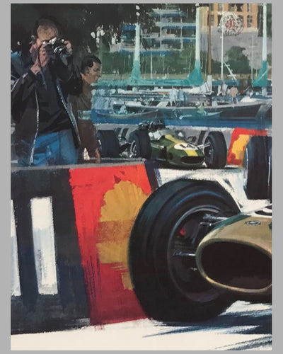 Monaco Grand Prix 1968 original poster by Michael Turner 3