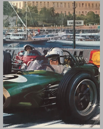 Monaco Grand Prix 1968 original poster by Michael Turner 4