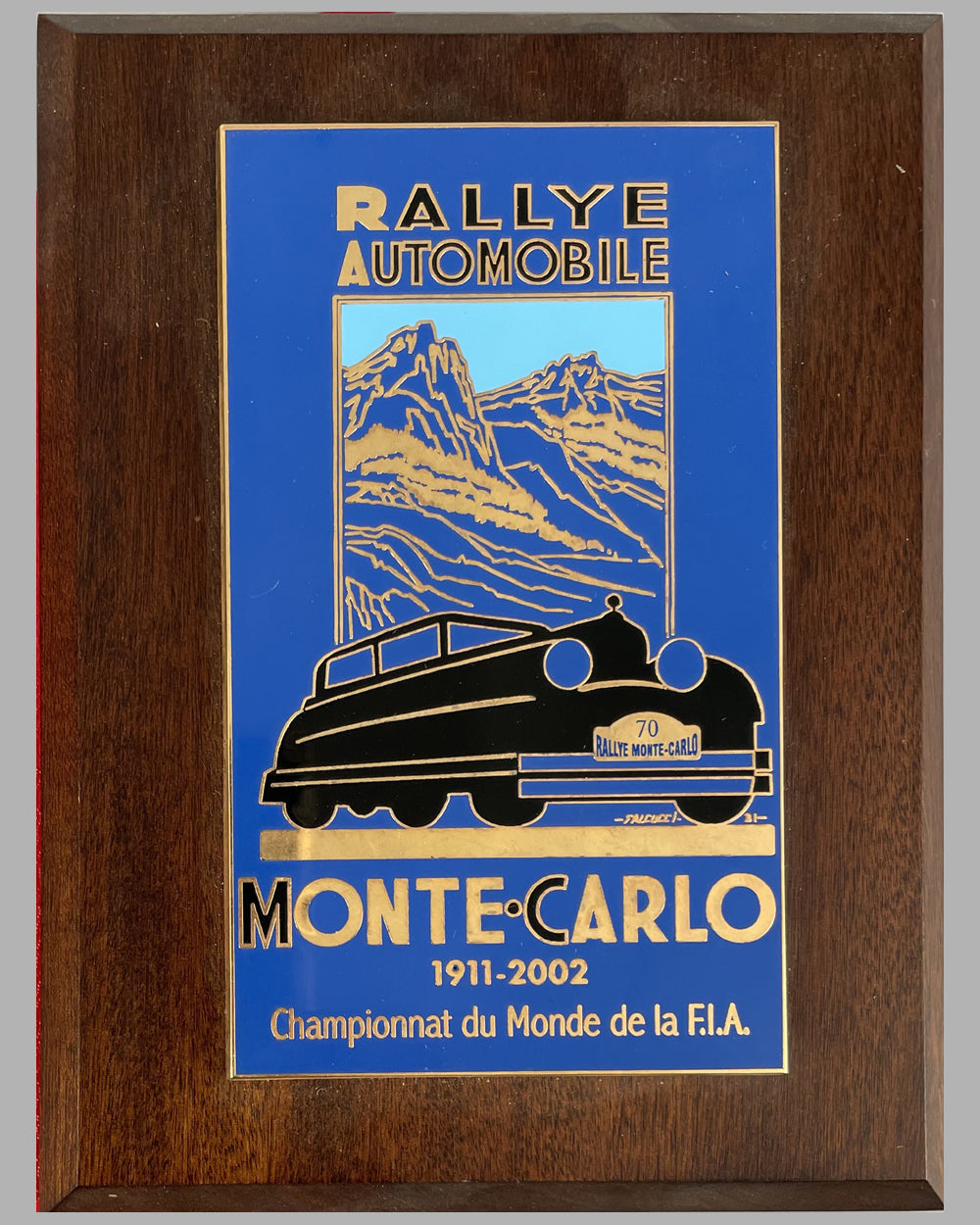 70th Rallye Automobile of Monte Carlo 2002 participant plaque