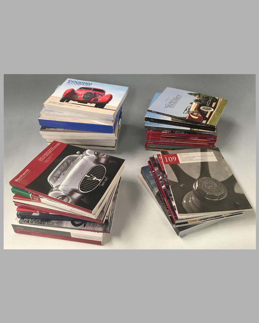 Collection of 71 Vintage Automobile Auction catalogs from 2000 to 2010
