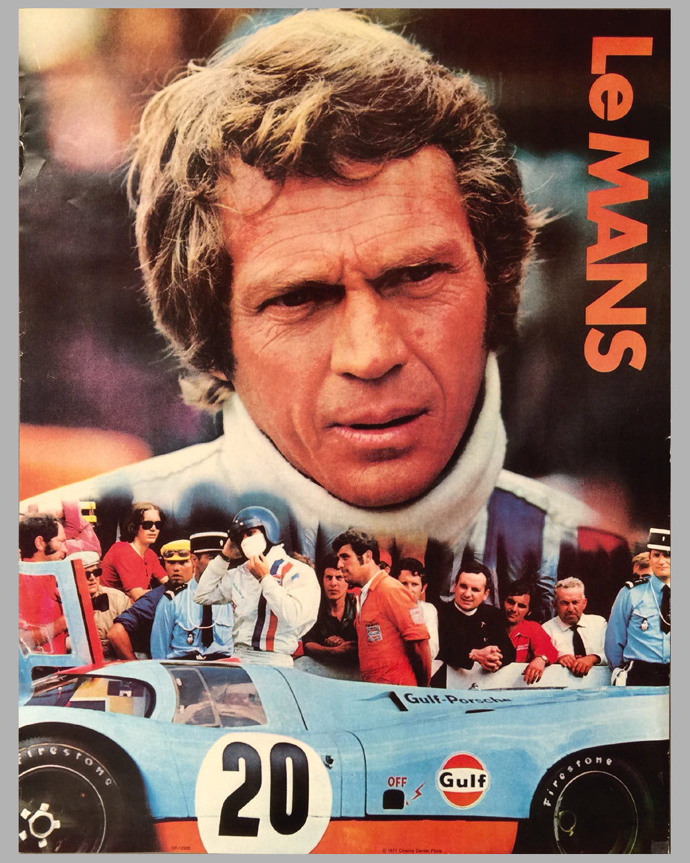 1971 Steve McQueen Le Mans original advertising poster