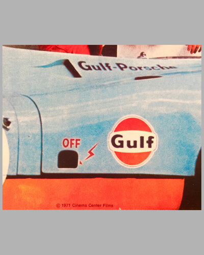 1971 Steve McQueen Le Mans original advertising poster 2