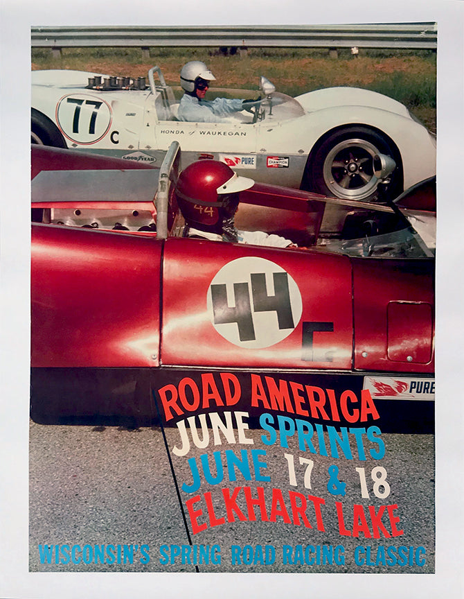 Elkhart Lake Road America June Sprints 1967 Race Poster