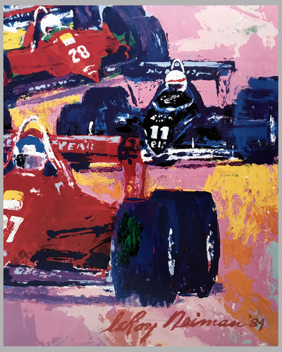 1984 Dallas Grand Prix poster by LeRoy Neiman 2