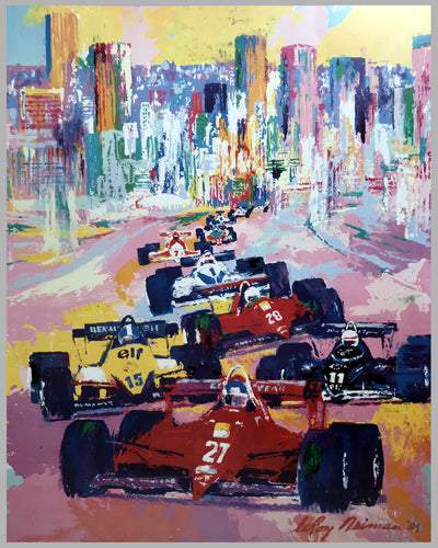 1984 Dallas Grand Prix poster by LeRoy Neiman 3