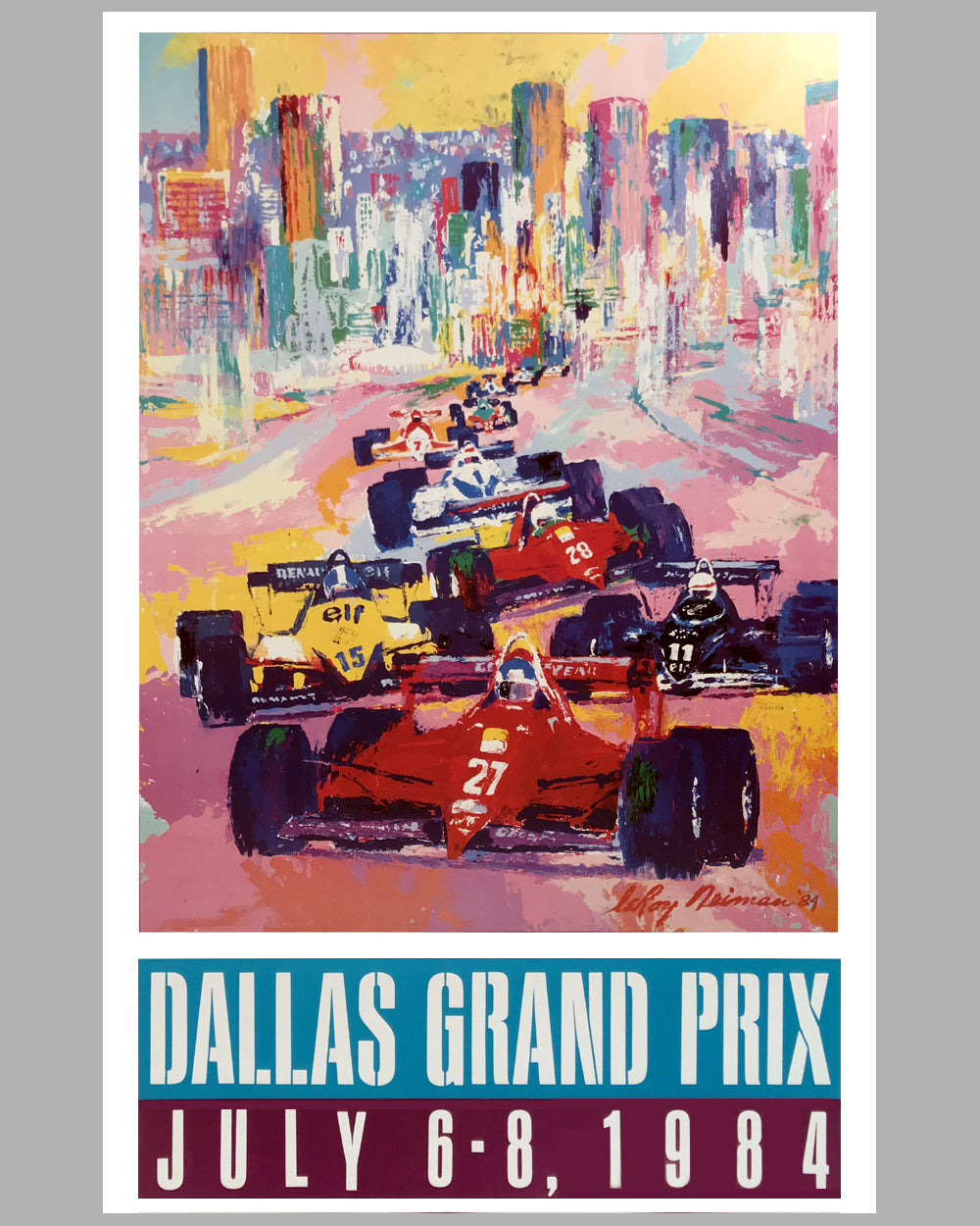 1984 Dallas Grand Prix poster by LeRoy Neiman