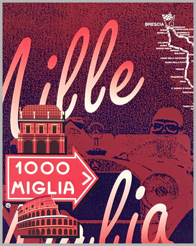 Mille Miglia 1999 official event poster 2