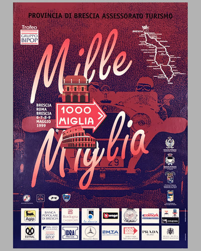 Mille Miglia 1999 official event poster