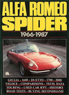 Alfa Romeo Spider book compiled by R. M. Clarke, 1966-1987