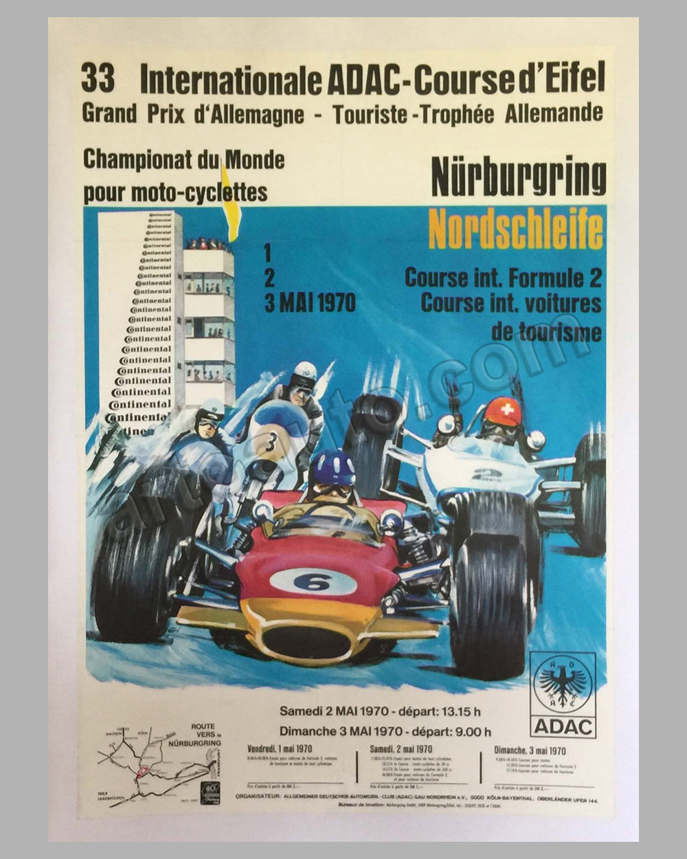 1970 Formula 2 Grand Prix of Nurburgring on the Nordschleife original race poster
