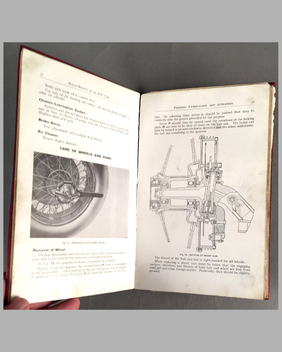 Rolls Royce factory handbook and maintenance manual for 20-25 H.P. inside 2