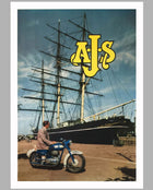 1950's A.J.S. Motorcycle Original Advertising Poster