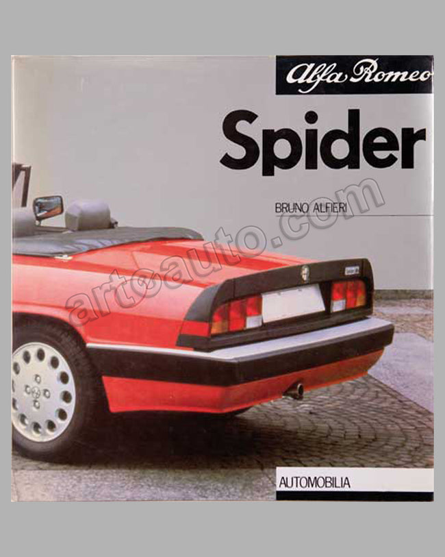 Alfa Romeo Spider book by Bruno Alfieri, 1988 ed.
