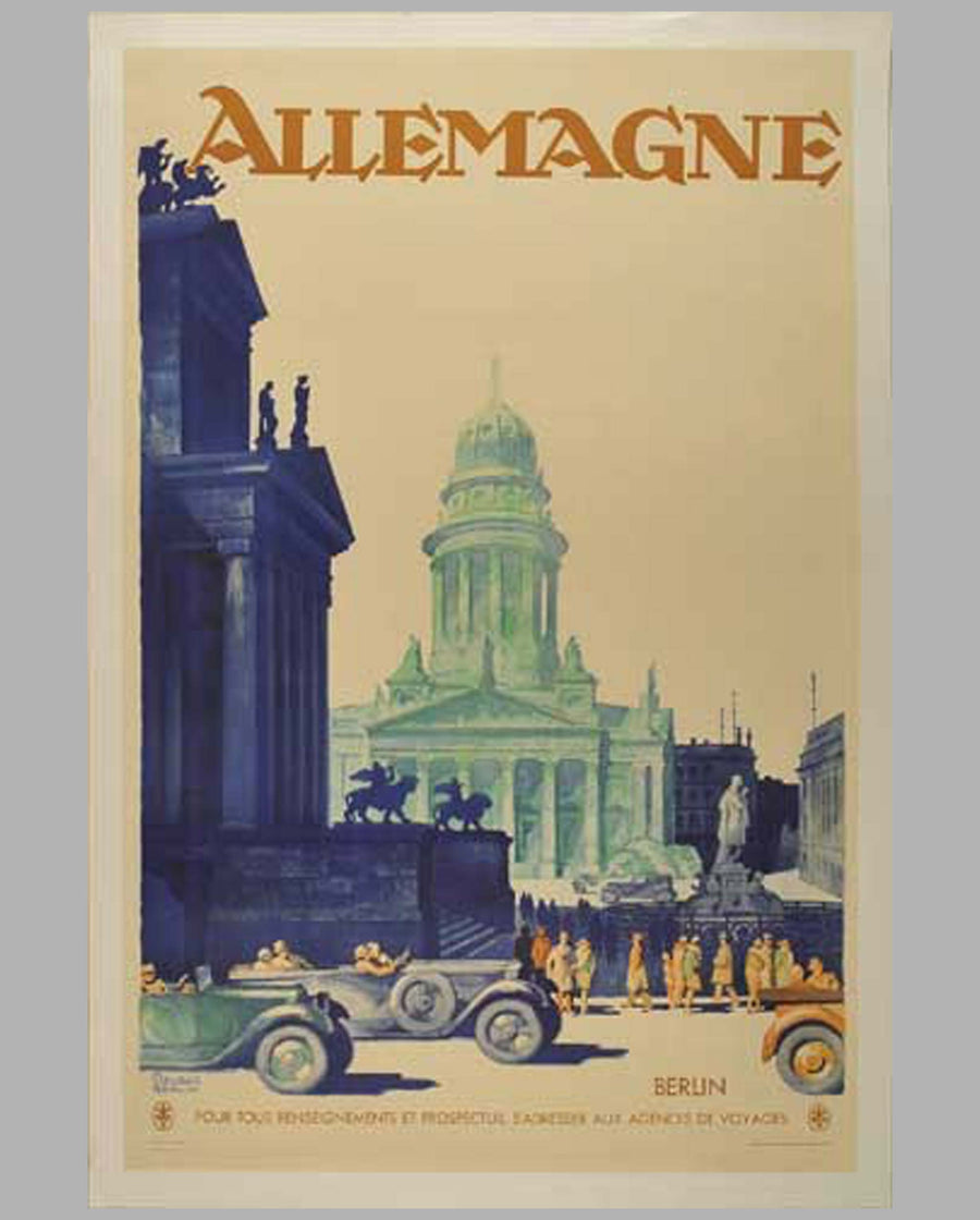 Allemagne (Germany) original poster by Friedel Dzubas, 1930's