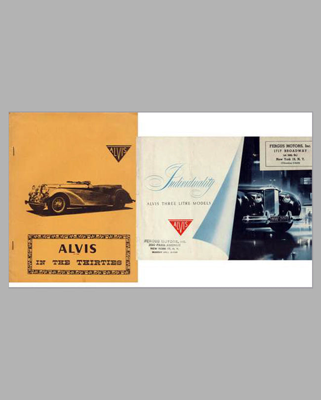 Alvis in the Thirties book and Alvis 3 Litre factory brochure, 1940's