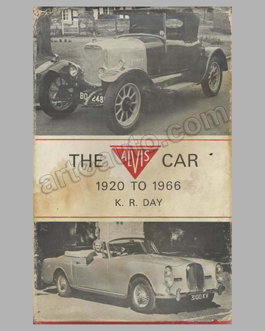 The Alvis Car 1920 to 1966 book by Kenneth Day, 1968